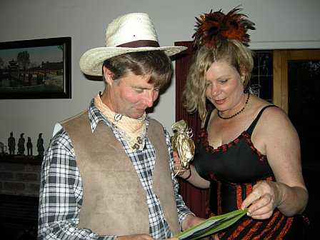 Garth and I at Western party